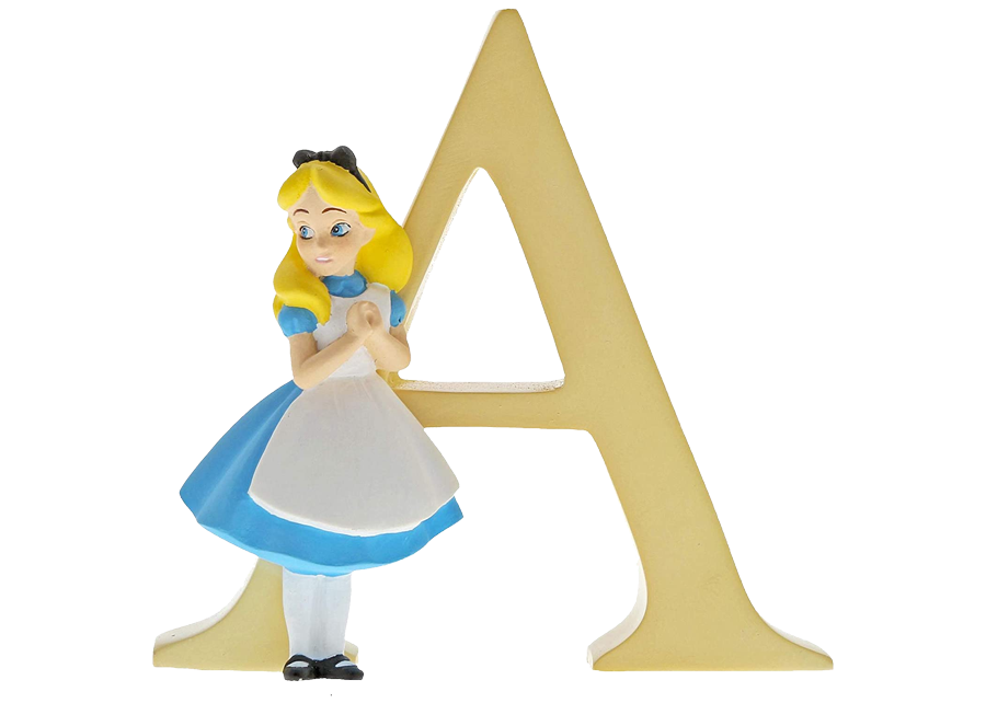 "Disney Alphabet Letters: A ""Alice in Wonderland"""