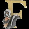 "Disney Alphabet Letters: F ""Flower"""