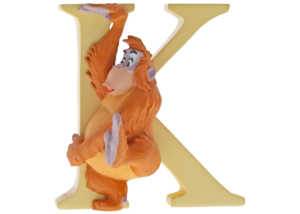 """Disney Alphabet Letters: K """"King Louie"""""""