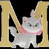 """Disney Alphabet Letters: M """"Marie"""""""
