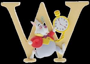 "Disney Alphabet Letters: W ""White Rabbit"""