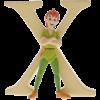 """Disney Alphabet Letters: X """"Peter Pan"""""""