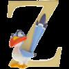 """Disney Alphabet Letters: Z """"Zazu"""""""