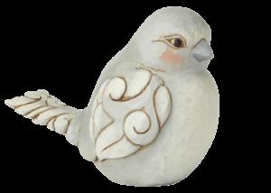 "Heartwood Creek: Grey Bird Figurine ""Charming Chirper"""