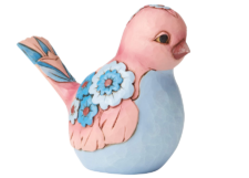 Heartwood Creek: Mauve and Blue Bird Figurine