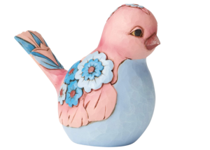 Heartwood Creek: Mauve and Blue Bird Figurine