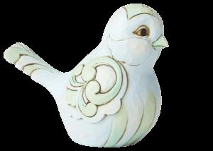 Heartwood Creek: Pale Blue and Green Bird Figurine