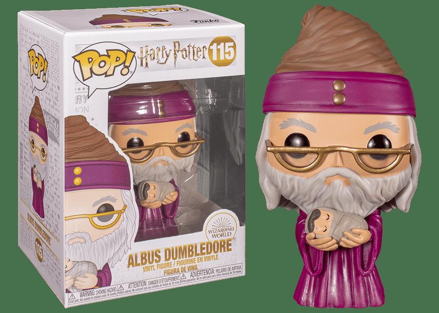 Funko Pop Harry Potter Albus Dumbledore with Baby Harry #115 w// ProtectorNEW