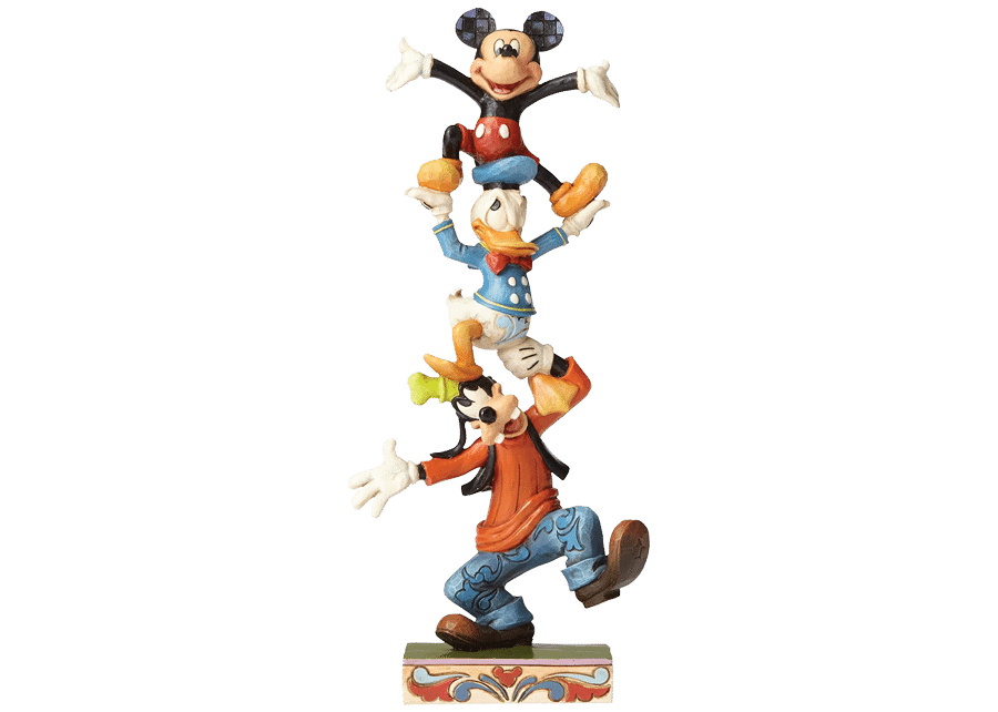 """Disney Traditions: Goofy, Donald and Mickey """"Teetering Tower"""""""