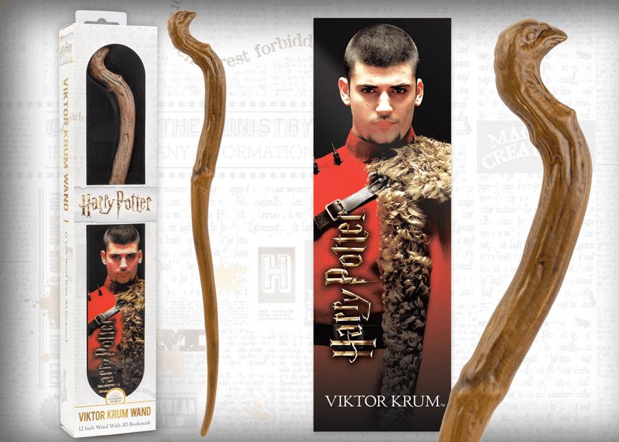 Harry Potter: Wand with Bookmark: Viktor Krum