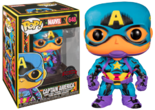 Funko Pop! Marvel Blacklight: Captain America #648