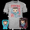 Funko Pop! & Tee Avengers Endgame: Tony Stark #449 - Size L
