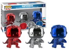 Funko Pop! DC Comics: Superman (chrome) 3-Pack
