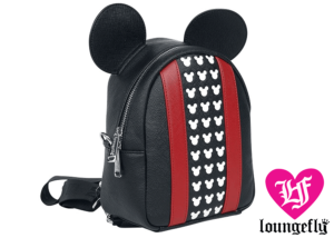 Loungefly: Mickey Mouse: Red Black Backpack