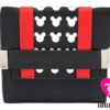 Loungefly: Mickey Mouse: Red Black Trifold Wallet