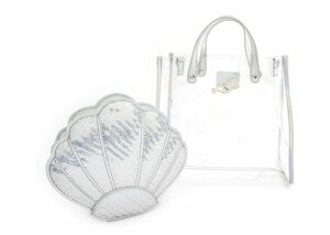Loungefly: The Little Mermaid: 2 PC PVC Cross Body Bag