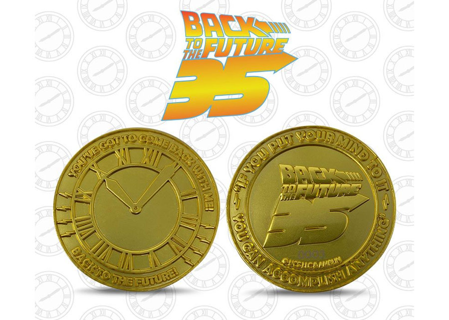 Collectable Coin: Back to the Future 35th Anniversary