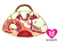 Loungefly: Mulan Bamboo Handle Fan Crossbody Bag