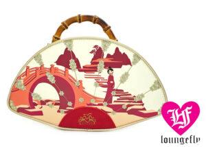 Loungefly: Mulan Bamboo Handle Fan Crossbody Bag