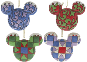 Disney Traditions: Mickey Mouse Head Ornament Set