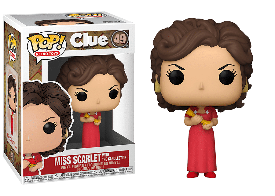 Funko Pop! Clue: Miss Scarlet with Candlestick #49