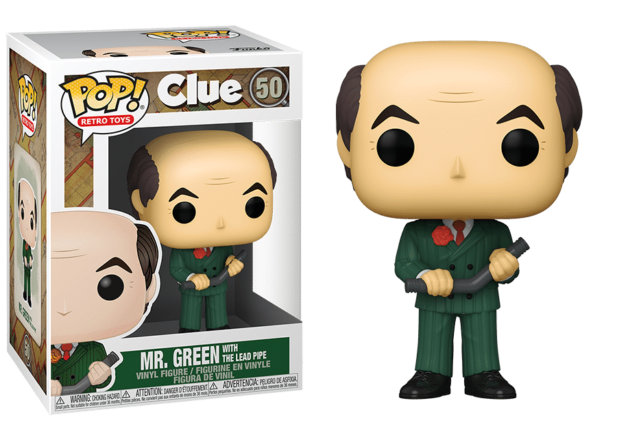 Funko Pop! Clue: Mr.Green with Lead Pipe #50