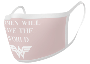 """Facemask: Wonder Woman """"Women will save the World"""""""