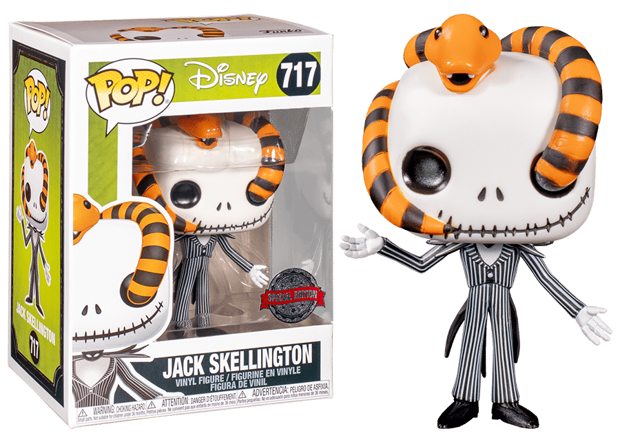 Funko Pop! NBC: Jack Skellington with Snake #717