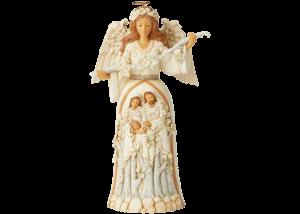 Heartwood Creek: Breath of Heaven (White Woodland Nativity Angel Figurine)