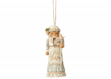 Heartwood Creek: White Woodland Nutcracker (Hanging Ornament)