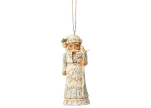 Heartwood Creek: White Woodland Nutcracker (Hanging Ornament)