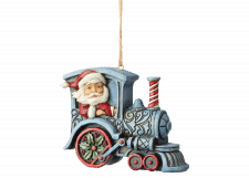 Heartwood Creek: Santa in Train Engine (Hanging Ornament)