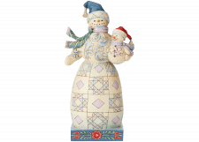 Heartwood Creek: Bundled in Love (Snowman with Snowbaby)