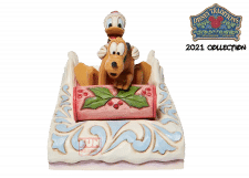 Disney Traditions: Donald and Pluto Sledding Figurine