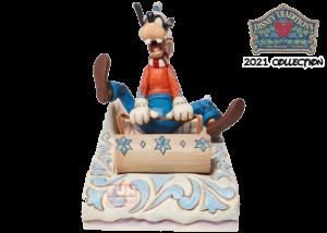 Disney Traditions: Goofy Sledding Figurine
