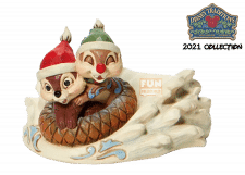 Disney Traditions: Chip & Dale Sledding Figurine