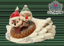 Disney Traditions: Chip & Dale Sledding Figurine