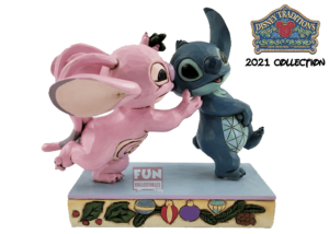 Disney Traditions: Stitch and Angel with Mistletoe