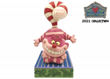 Disney Traditions: Christmas Cheshire Cat Figurine