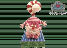 Disney Traditions: Christmas Cheshire Cat Figurine