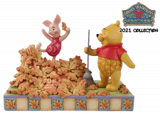 Disney Traditions: Piglet and Pooh Autum Leaves Figurine