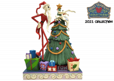 Disney Traditions: Santa Jack with Zero by Tree Figurine
