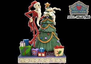 Disney Traditions: Santa Jack with Zero by Tree Figurine