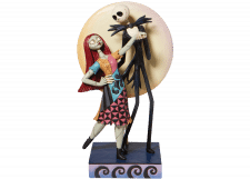 Disney Traditions: Jack and Sally Love Figurine with Light Up Moon
