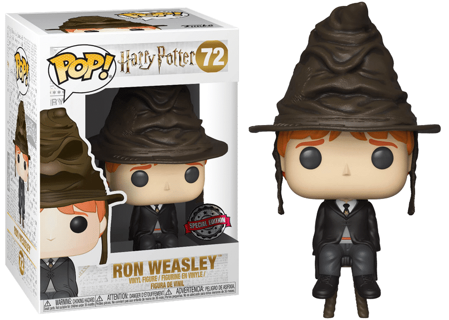 Funko Pop! Harry Potter: Ron with Sorting Hat #72