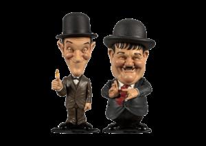 Mini Bobblehead: Laurel and Hardy