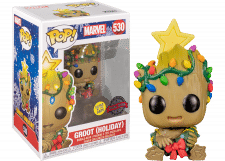 Funko Pop! Marvel: Christmas Baby Groot (GitD) #530