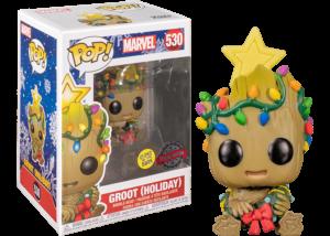 Funko Pop! Marvel: Christmas Baby Groot (GitD) #530