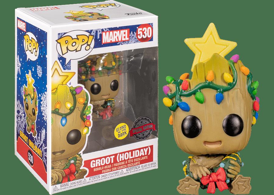 Marvel Christmas Funko Pops 2021 Funko Pop Marvel Christmas Baby Groot Gitd 530