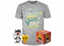 Funko Pop! & Tee Looney Tunes: Sylvester and Tweety Flocked #309